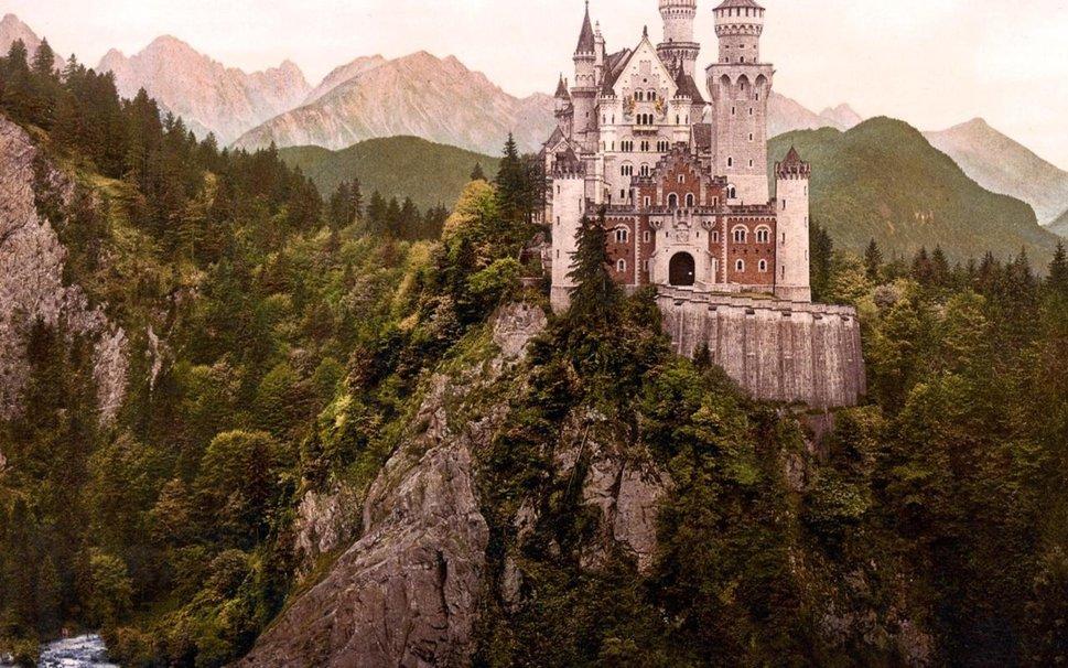 Экскурсия в Альпы, замок Нойшванштайн и церковь Виескирхе