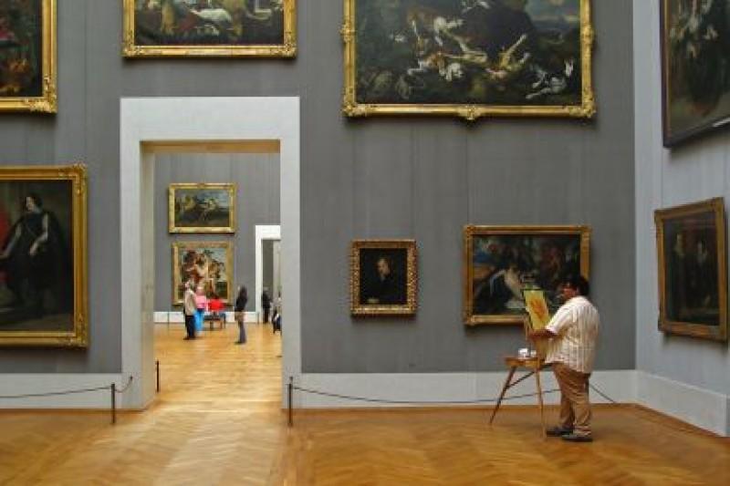 Посещение старой Пинакотеки (одной из самых богатых картинных галерей Европы)